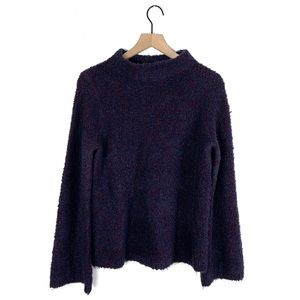 Ann Taylor Chunky Multicolor Knit Mockneck Sweater